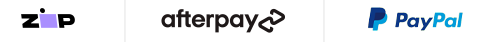 Payment Options - Zip, Afterpay, Paypal